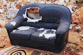 Alte couch — Stockfoto