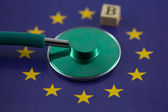 Europe credit rating during crisis — Stock Photo