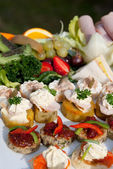 Selection of healthy Appetizers — Stock Photo