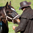 Horse whispering - Stock Photo