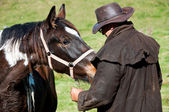 Horse whispering — Stock Photo