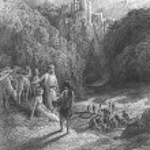 Постер, плакат: Geraint and Enid in the Meadow