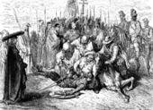 The fight of Don Quixote — Stock Photo