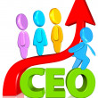 Ceo with growth chart — Stock Photo