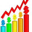 Increasing Money Chart — Stock Photo