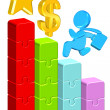 Moving Up Business Chart — Stock Photo