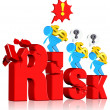 Investment risk — Stock Photo