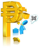 Unsuccessful Currency Business — Stock Photo