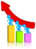 Increasing Business Chart — Stock Photo