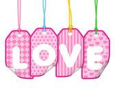 Etiqueta de amor — Foto de Stock