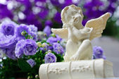 Angel in Garden — Stock Photo