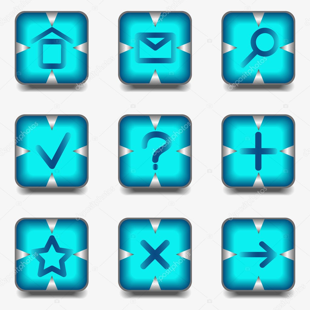 Web icons set — Stock Vector #10640307