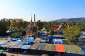 Market at the temple Wat Chalong in Phuket — Stock Photo