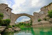 Old bridge in Mostar, Bosnia and Herzegovina — Stock Photo