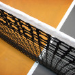 Tennis net and court abstract - Stock Photo