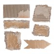 Brown cardboard paper over white background — Stock Photo #10495009