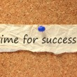 Time for success sign — Foto Stock