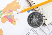 Fond de commerce de carte monde — Photo
