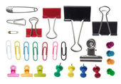 Collection of paper clip — Stock Photo