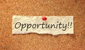 机会标志příležitosti znamení — Stock fotografie