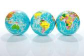 Globus mapy světa — Stock fotografie