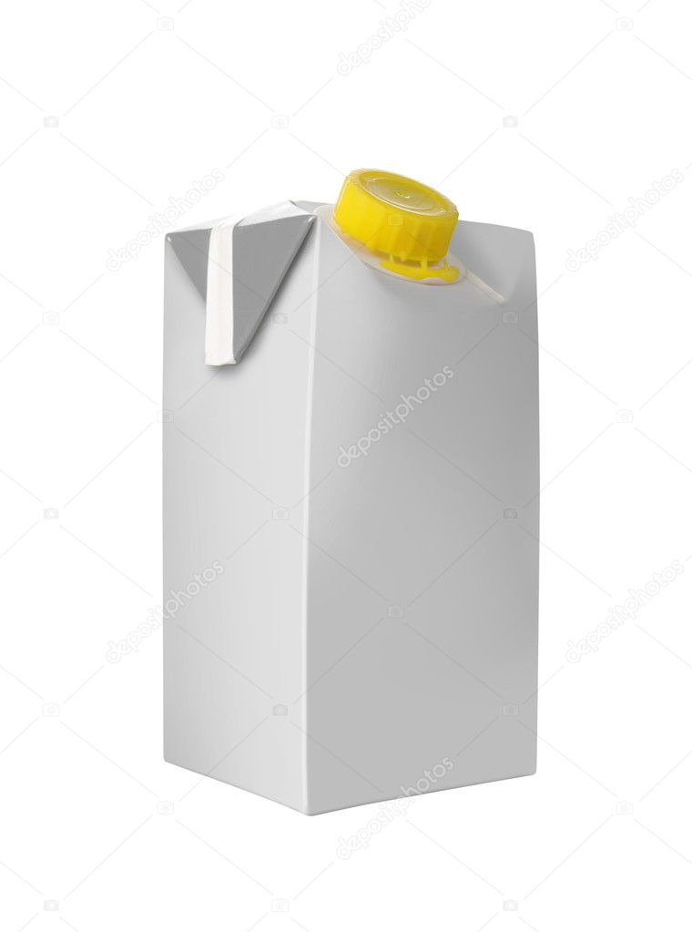 Juice or milk package isolated over white background  Stock Photo #10494964