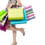 žena s nákupní tašky — Stock fotografie #10563904