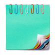 Colorful note — Stock Photo