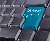Solution button — Stock Photo