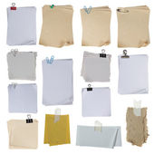 Note paper over white background — Stock Photo