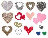 Hearts icon — Stock Photo