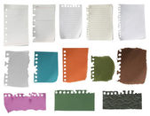 Paper collection isolated — Stock Photo