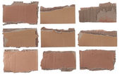 Collection of a cardboard pieces — Stock Photo