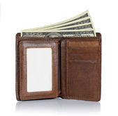 Wallet and money — Stockfoto