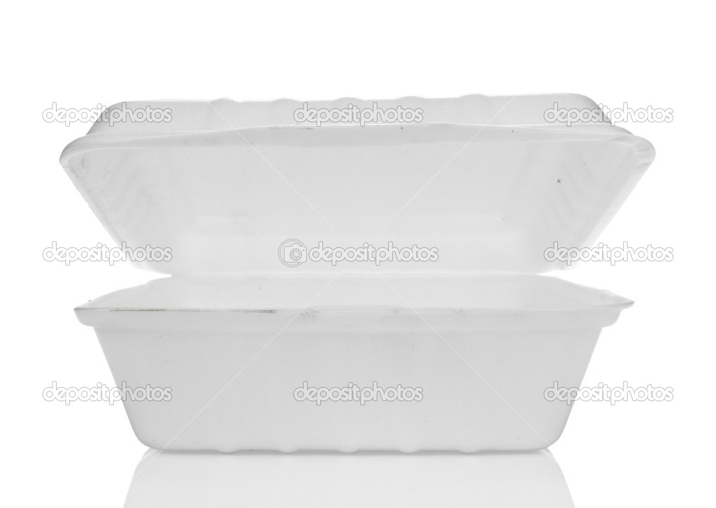 Styrofoam of food container isolated on white — Stock Photo #10563688