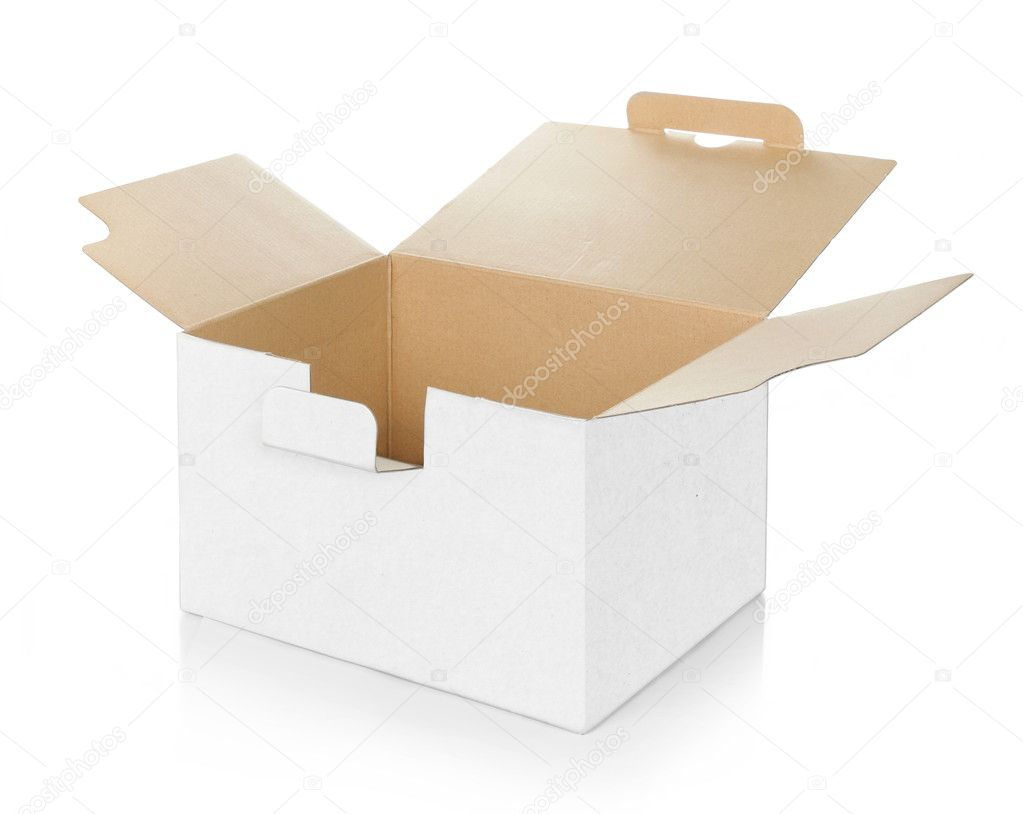 Blank empty cardboard box carton container — Stock Photo #10566913