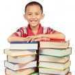Smiling little boy with his book — Stock Photo