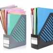Stock Photo: A file folder with documents and papers
