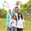 portrait of happy family park — Stockfoto #10637763