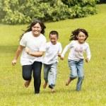 Happy kids running — Stock Photo