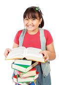 Little girl reading — Stock Photo
