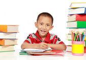 Kleiner junge studieren — Stockfoto