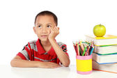 Little boy thinking — Stock Photo