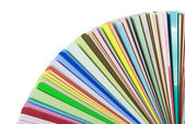 Colorful color guide samples on white background — Stock Photo