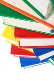 Stapel van vele kleurrijke boeken — Stockfoto
