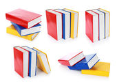 Collection of colorful book formation — Stock Photo