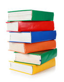 Stack of many colorful books — Stock Photo