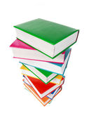Pile of books isolated on a white background — Stock Photo
