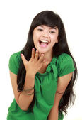 Young girl laughing — Stock Photo