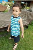 Young boy looking at camera — Stock Photo